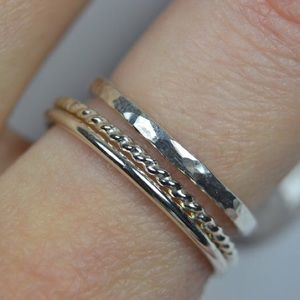 925 Sterling Silver Stacking Ring Set